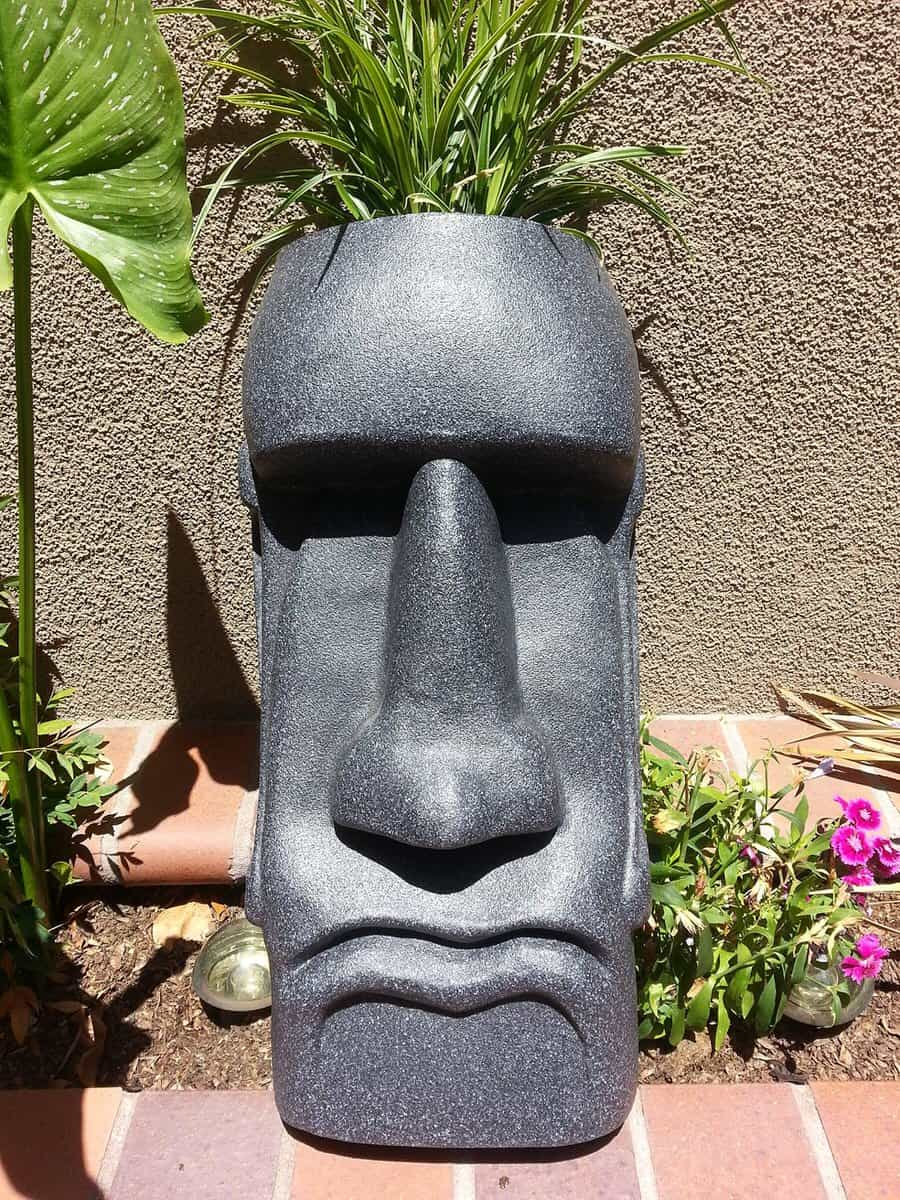 The Tiki Shop Easter Island Planter Noveltystreet