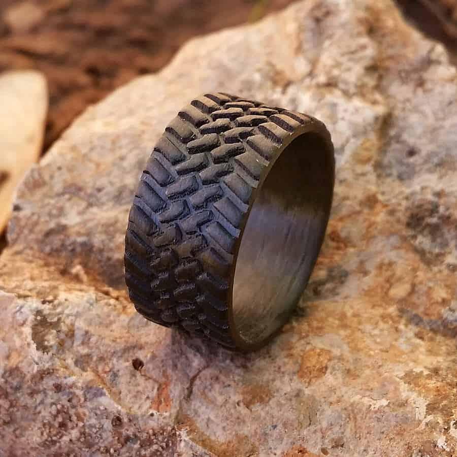 Venture Custom Off Road Tire Carbon Fiber Ring Buy Dad Gift Idea