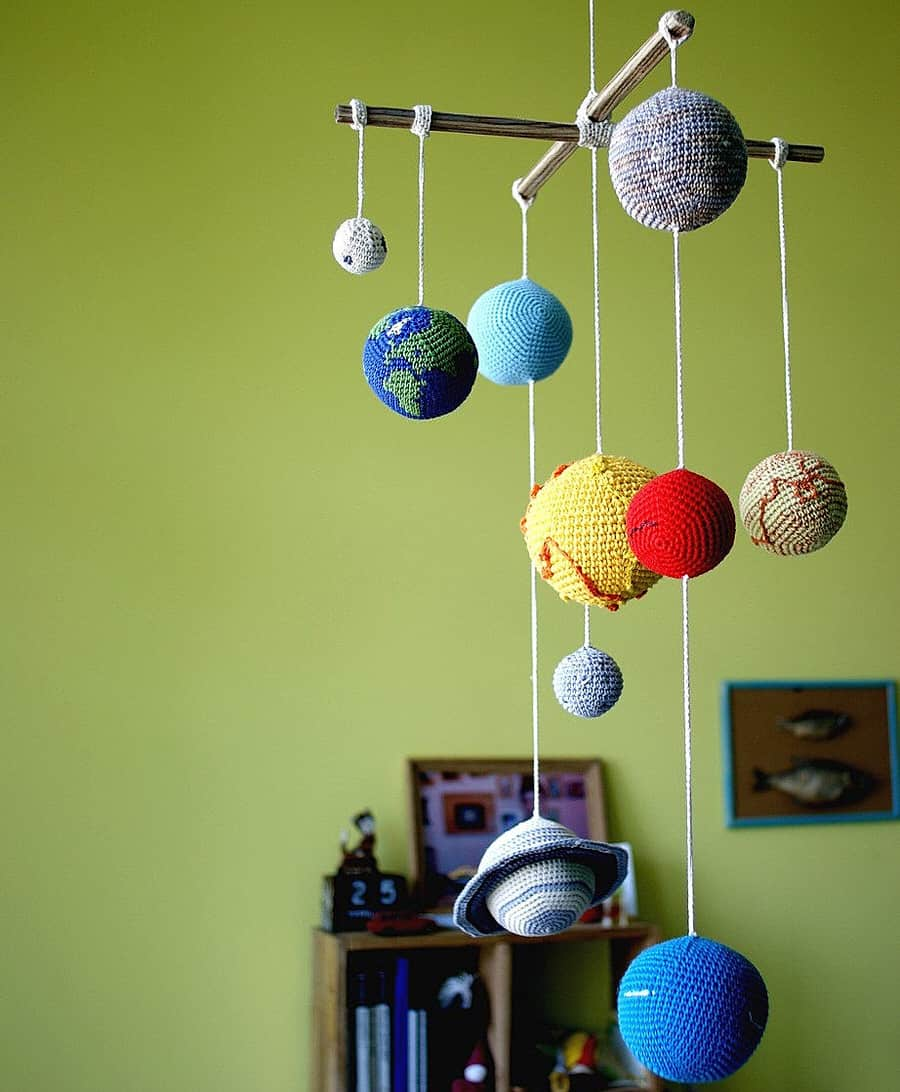 Yarn Ball Stories Solar System Planets Mobile Baby Toy
