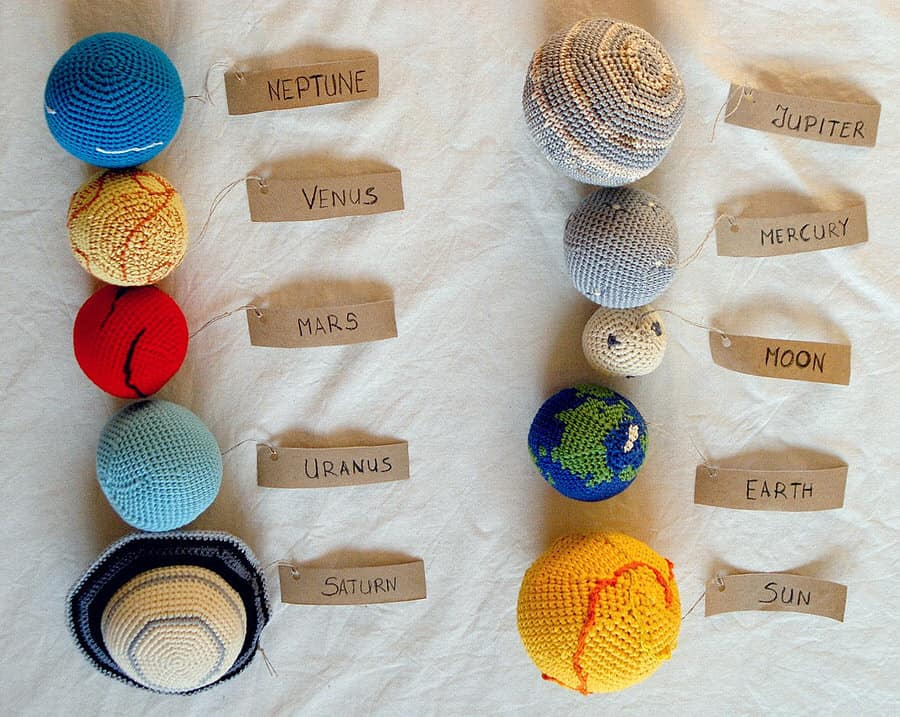 Yarn Ball Stories Solar System Planets Mobile Cute Baby Toy