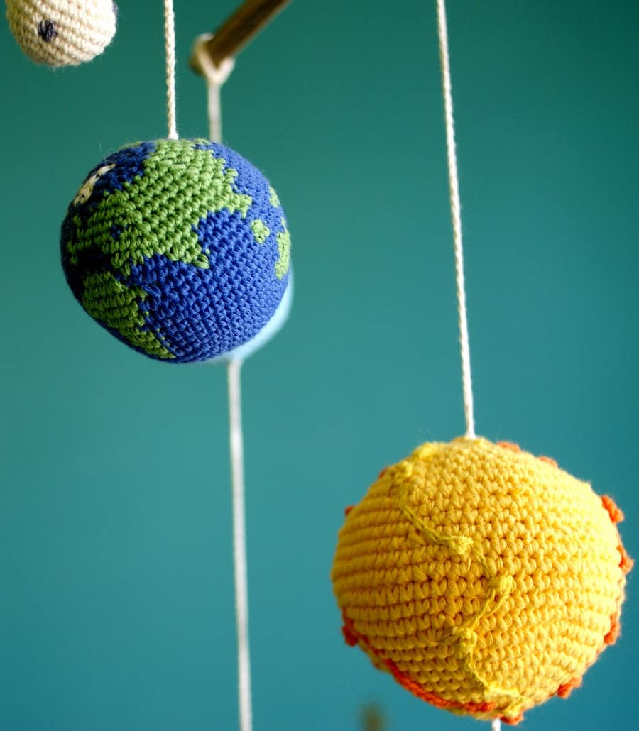 Yarn Ball Stories Solar System Planets Mobile Earth and Sun