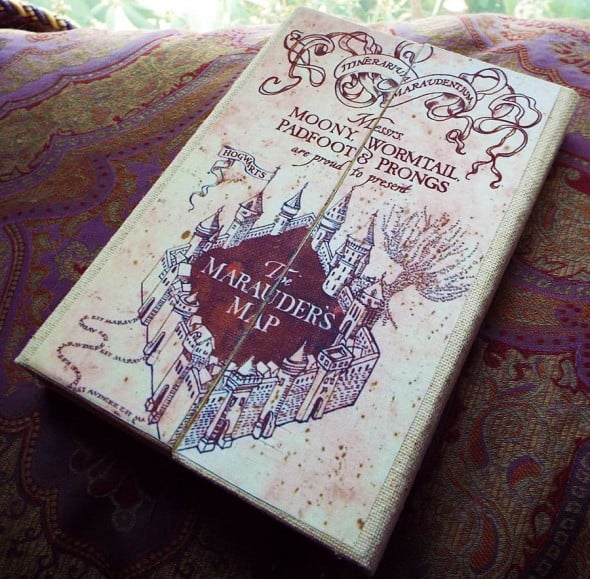 An Enchanted Fate Harry Potter Marauders Map Tablet Cover Geek Gift