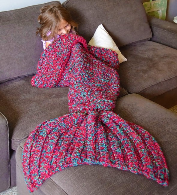 Cass James Designs Mermaid Blanket Cool Daughter Gift Idea