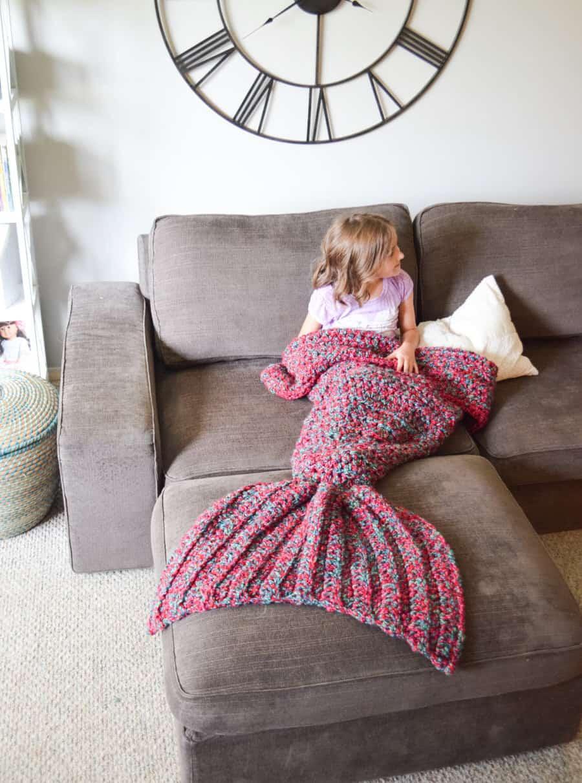 Cass James Designs Mermaid Blanket Niece Gift Idea