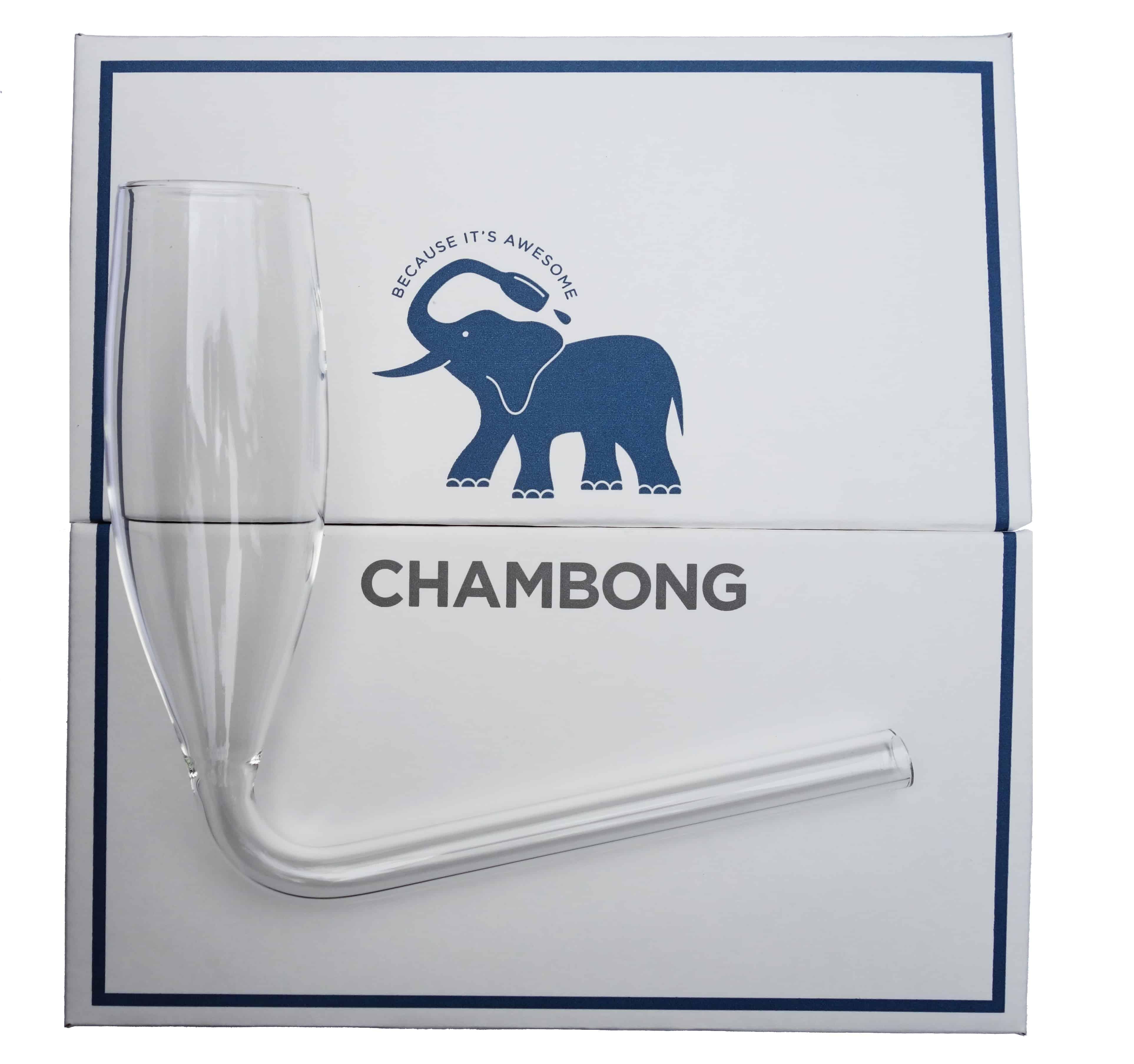 Chambong Champagne Glass Blue Elephant