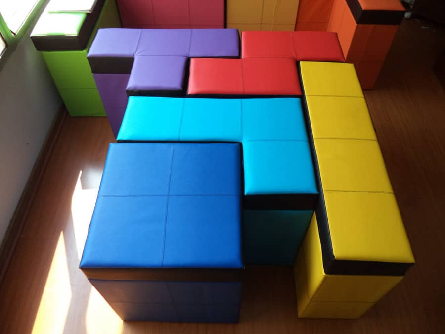 Cromaleon Tetris-shaped Storage Benches Geeky Furniture