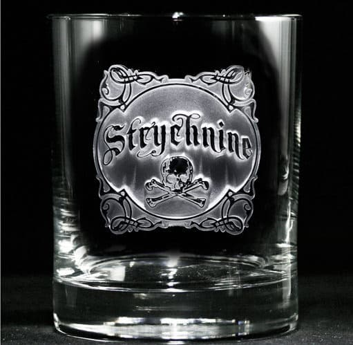 Crystal Imagery Name your Poison whisky Glass Strychnine