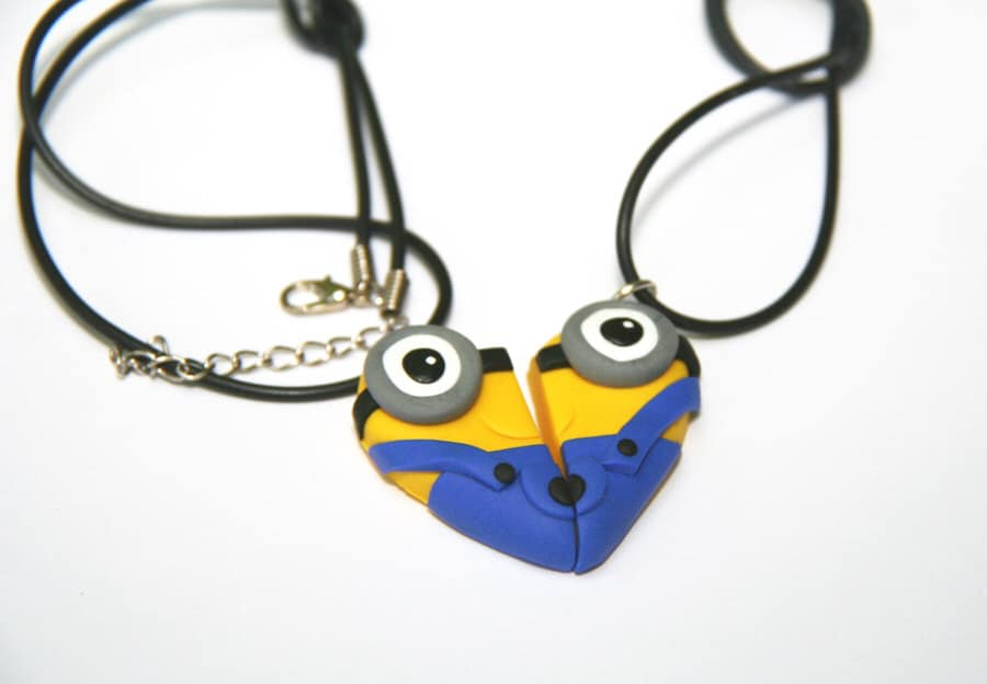 Dizzy Day Dreamz Minion Friendship Necklace Cute and Weird Fashion Accessory