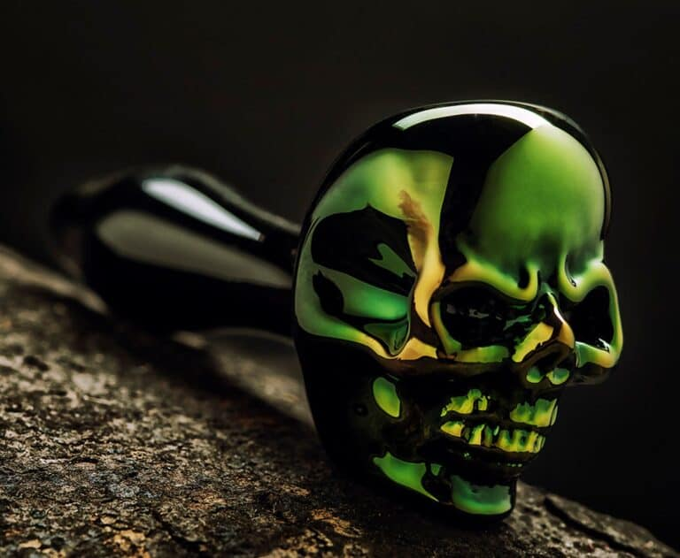 Elevator Glassworks Sick Skull Pipe Badass Design