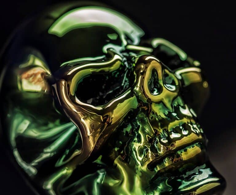Elevator Glassworks Sick Skull Pipe Head Detail