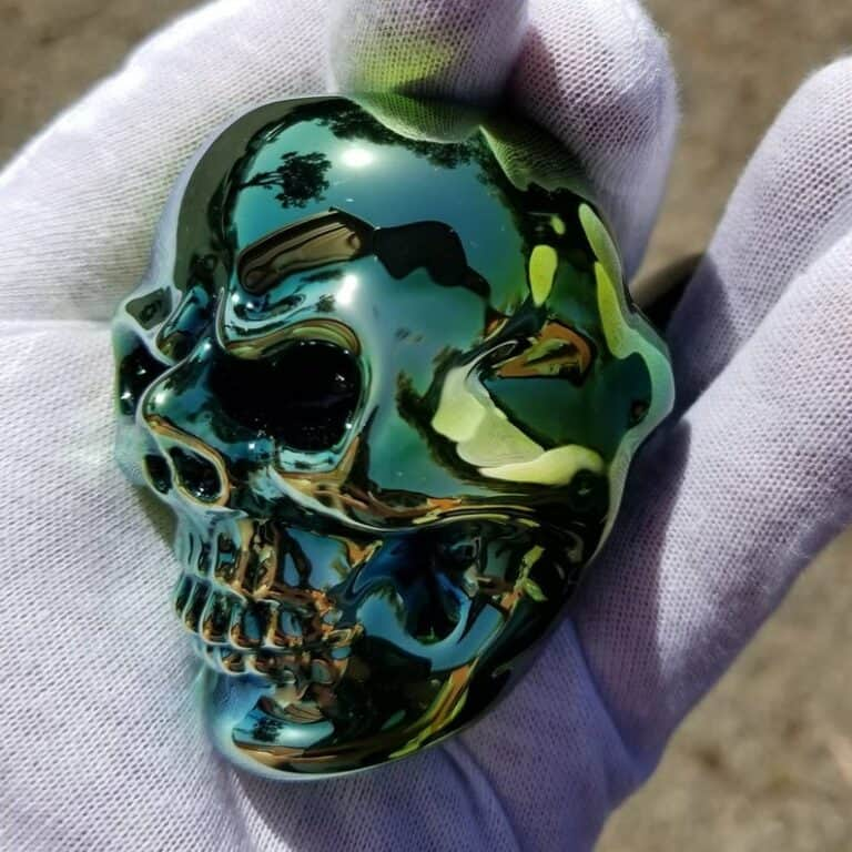 Elevator Glassworks Sick Skull Pipe Metallic Finish