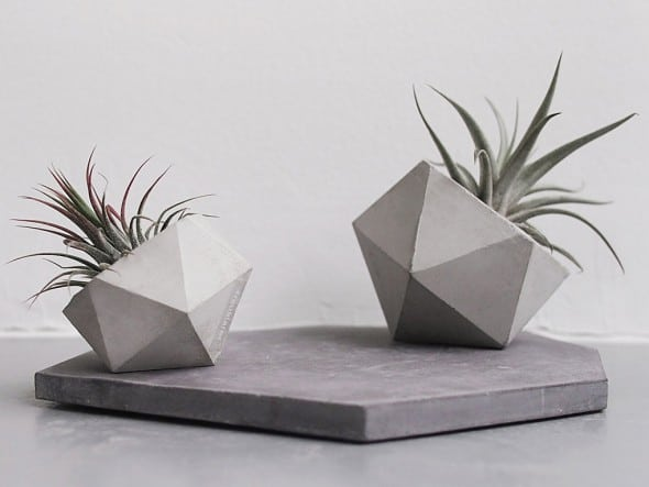 Frauklarer Geometric Concrete Planter Industrial Design
