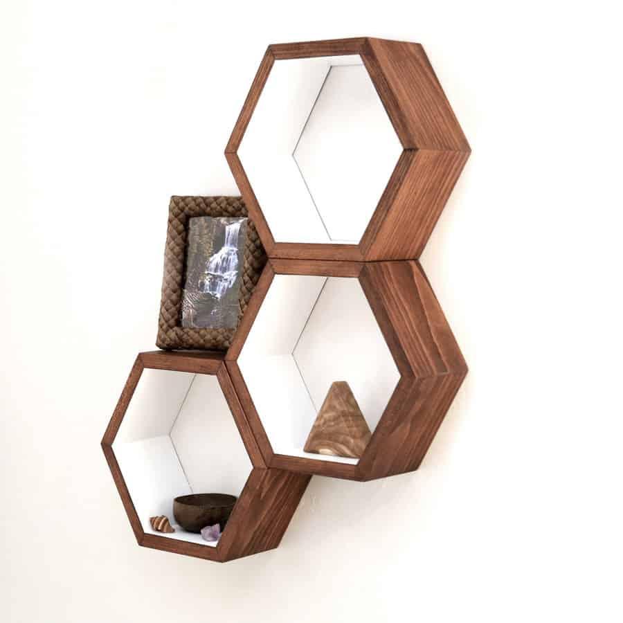 Haase Handcraft Honeycomb Shelving Modern Fixture