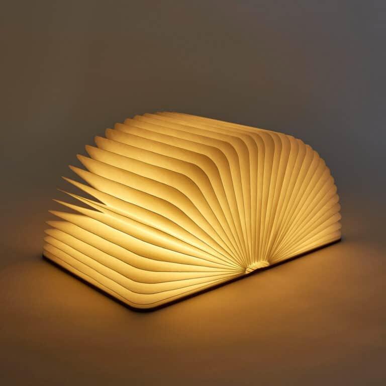 Lumio Folding Wooden Book Lamp Adaptable Lighting Solution