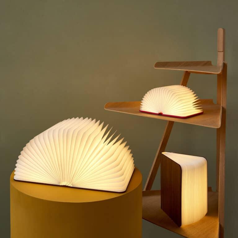 Lumio Folding Wooden Book Lamp Cool Night Lights