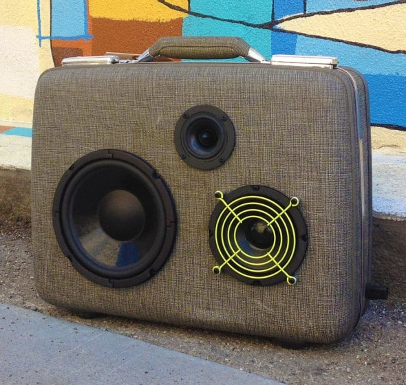 Makbuilt Vintage Suitcase Boombox Portable Speakers Hipster Gift Idea