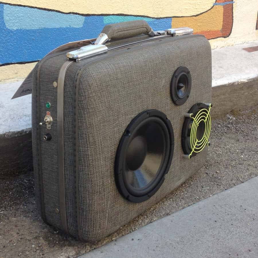 Makbuilt Vintage Suitcase Boombox Portable Speakers Unique Gift Idea to Buy