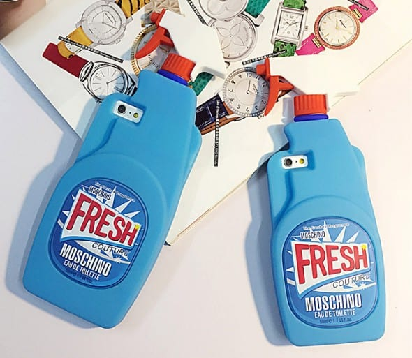 Moschino Cleaning Spray Bottle iPhone Cover Novelty Item