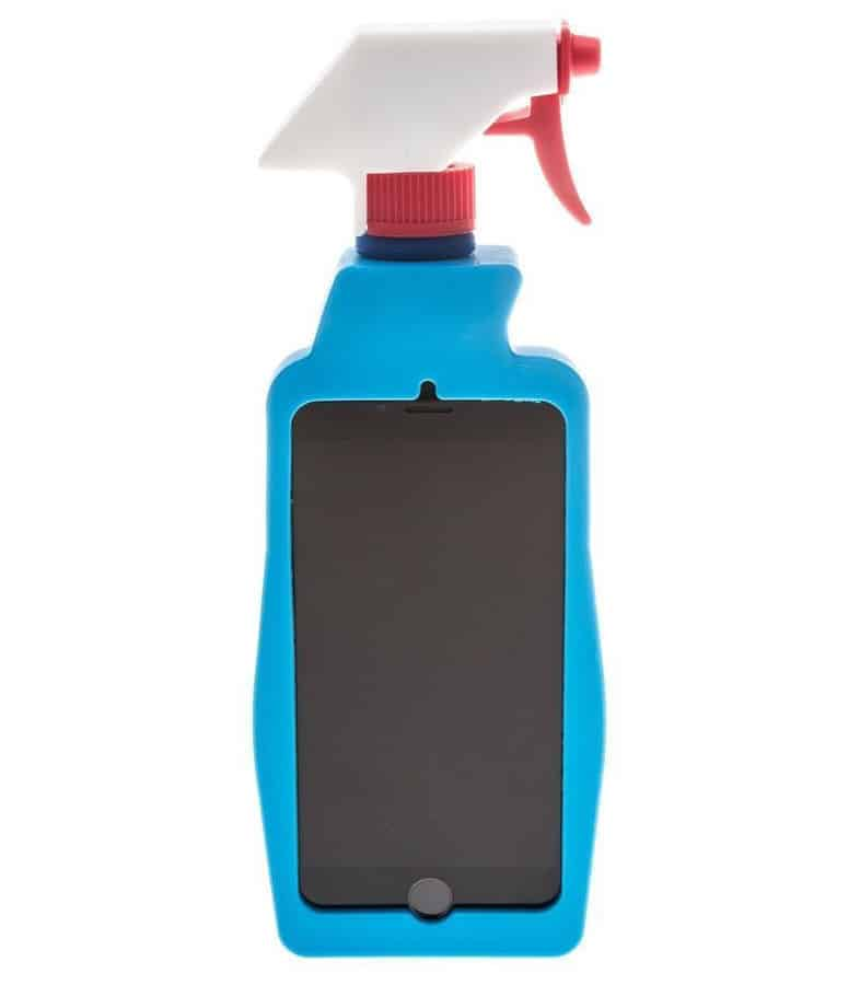 Moschino Cleaning Spray Bottle iPhone Cover Weird