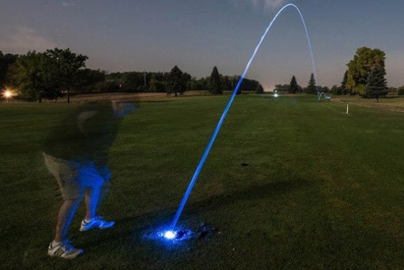 Night Sports USA Light Up Golf Ball  Cool Dad Gift Idea to Buy
