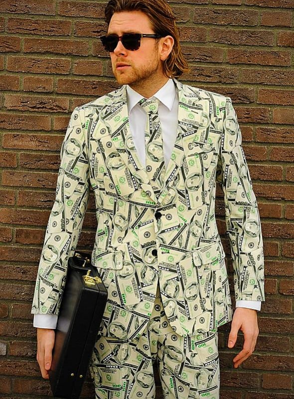 OppoSuits Cashanova Party Costume Suit Baller Style