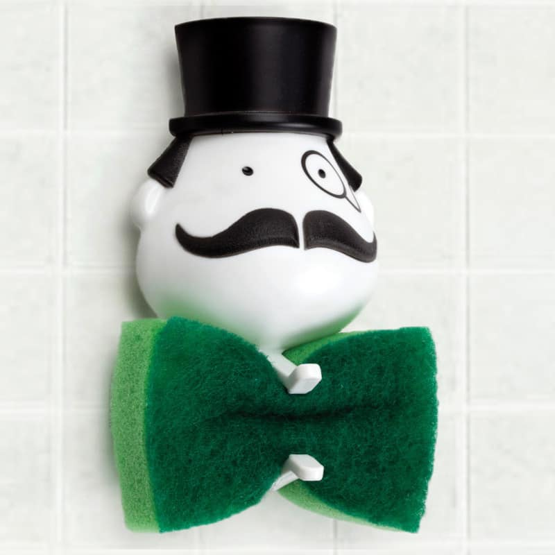Peleg Design Mr Sponge Sponge Holder Monopoly Guy Green Tie