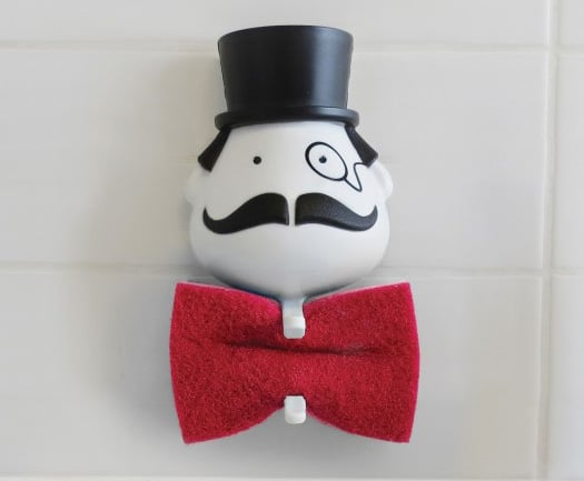 Peleg Design Mr Sponge Sponge Holder Red Bow Tie