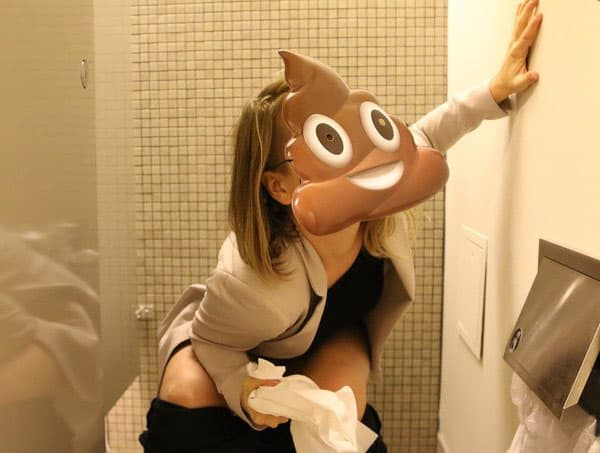 The poop mask says it all!