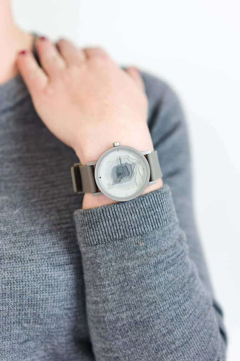 Project Watches Terra Time Watch Countour Map Timepiece