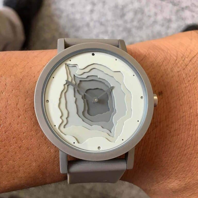 Project Watches Terra Time Watch Topographic Designer Timepiece
