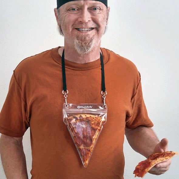 Stupidiotic Portable Pizza Pouch Cool Weird Gift Idea to Buy