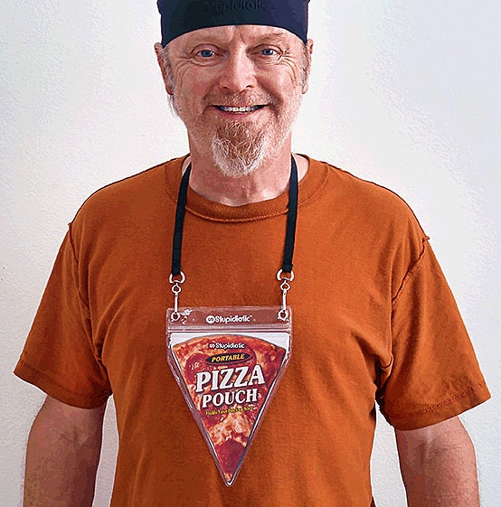 Stupidiotic Portable Pizza Pouch Unique Gift Idea to Buy