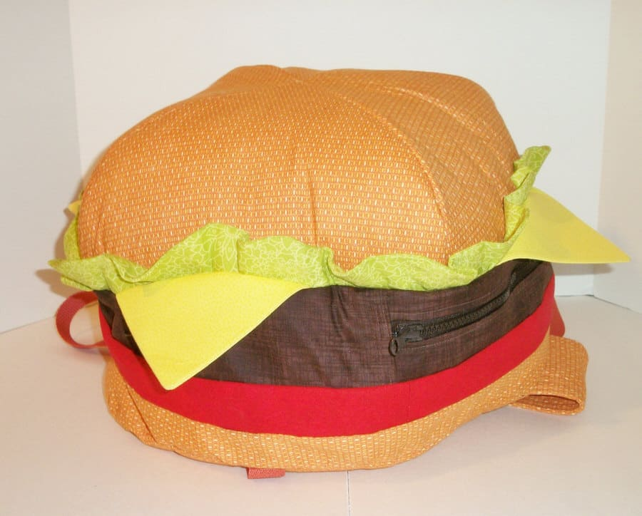 Sunshine Sisters Cheeseburger Backpack Cool College Bag to Buy
