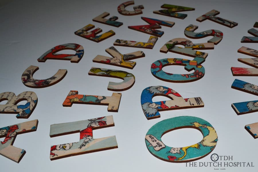The Dutch Hospital Dr. Seuss s ABC Alphabet Letter Set Vintage Style