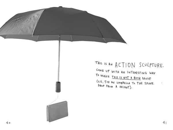 This Is Not a Book  Action Sculpture Page