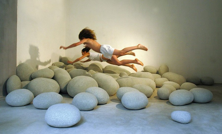Vercart Living Floor Stone Pillows For Kids