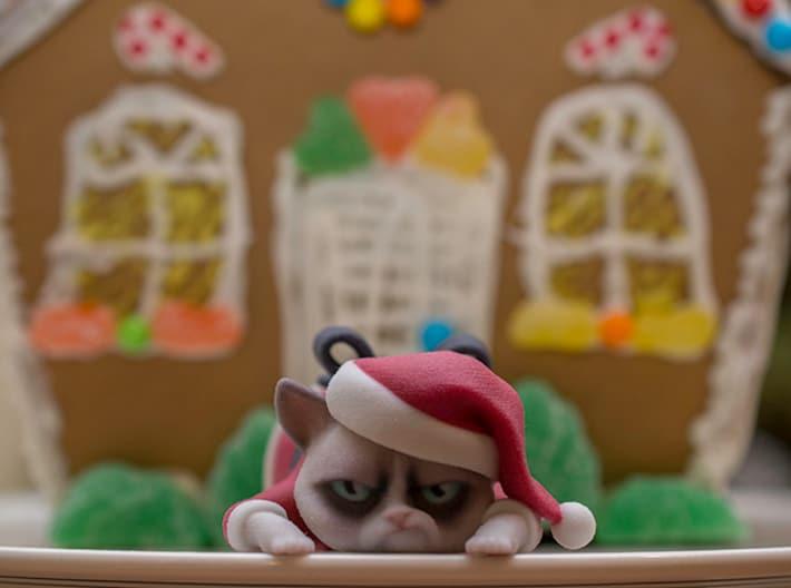 3D Printed Grumpy Cat Christmas Edition Sarcastic Feline