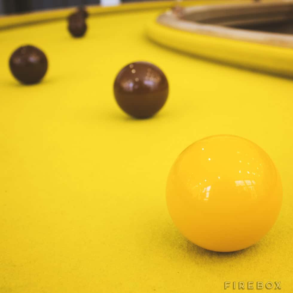 Banana Pool Table  Yellow Felt