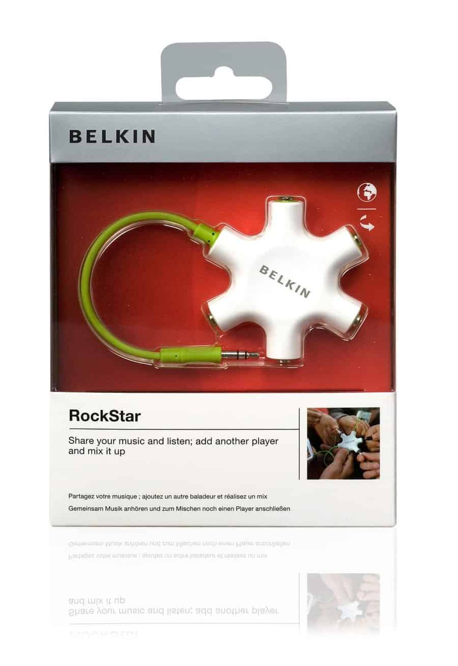 Belkin RockStar 5-Way Headphone Splitter Tech Gift Idea