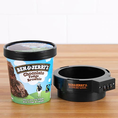 Ben & Jerry's Euphori-Lock Ice Cream Pint Protector Food Security