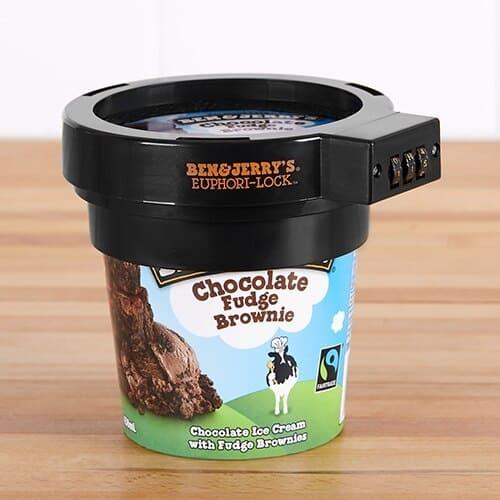 Ben & Jerry's Euphori-Lock Ice Cream Pint Protector Funny Gag Gift Idea