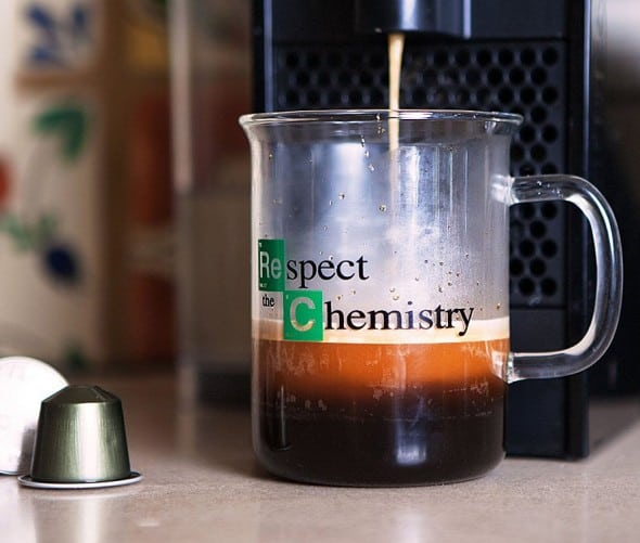 Breaking Bad Inspired Respect the Chemistry Beaker Mug Buy Cool Geek Gift