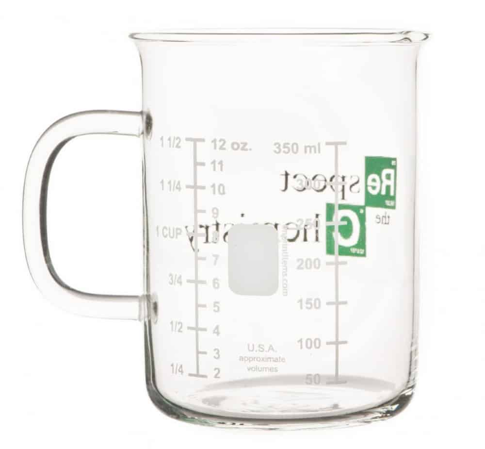 Breaking Bad Inspired Respect the Chemistry Beaker Mug Buy Cool Gift for Science Teacher