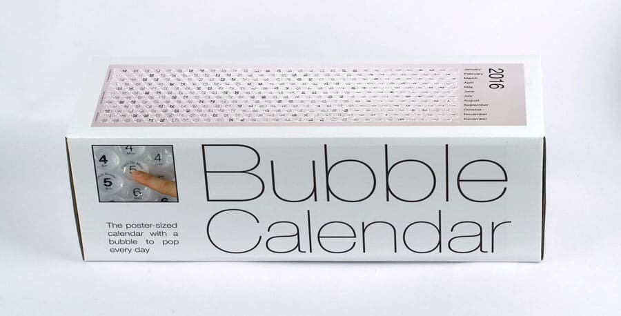 Bubble Calendar Cool Way to Keep Track of the Date