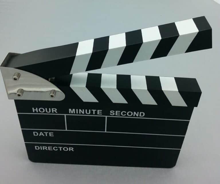 Clapper Board Digital Alarm Clock Novelty Item