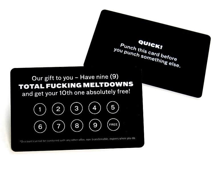 Frequent Meltdown Card Useless Gift to Buy