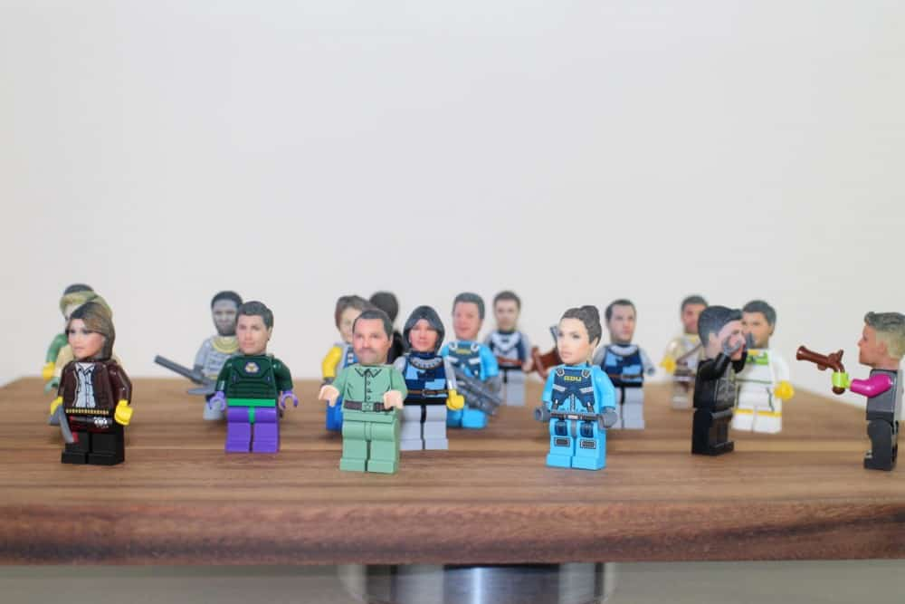 Funky 3D Faces  3D Printed Head for Lego Minifigures Creepy Gift Idea
