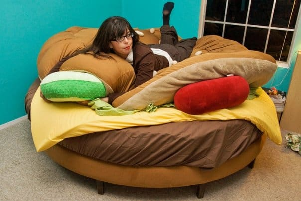 Hamburger Bed Unique Product Idea