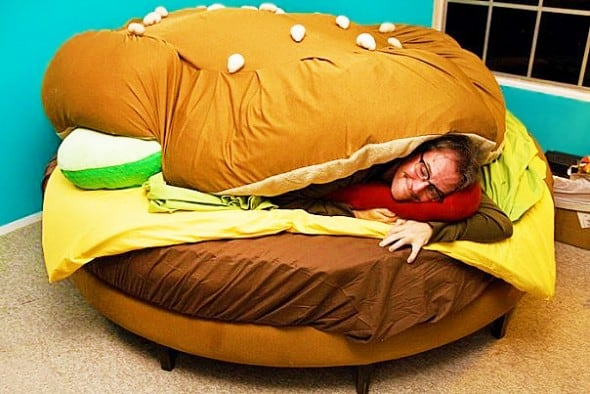Hamburger Bed Weird Stuff Online