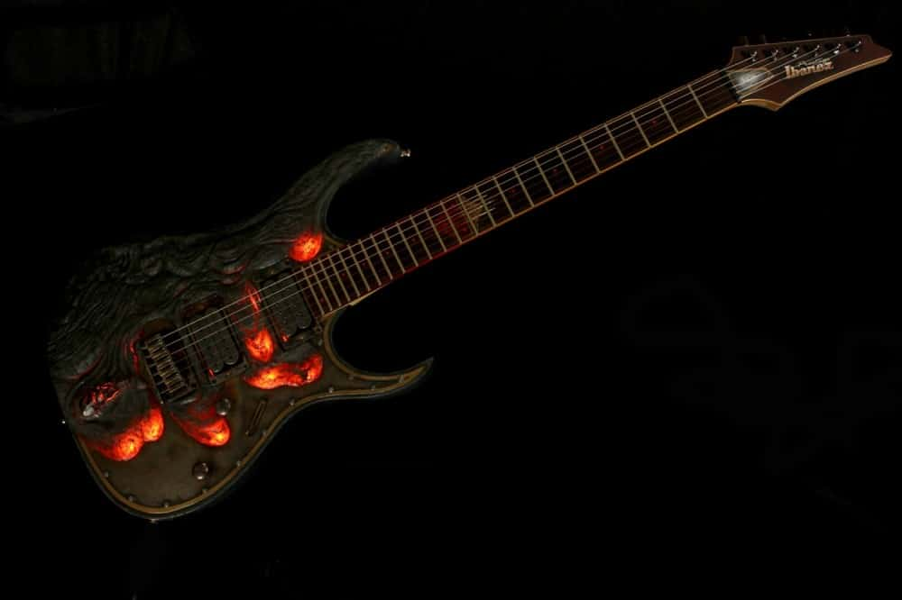 Hutchinson Guitars Molten Diabolic Guitar Bad Ass Musical Instrument to Buy